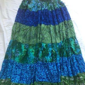 Gypsy Boho Batik Skirt